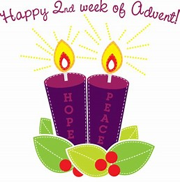 Advent week 2 candle
